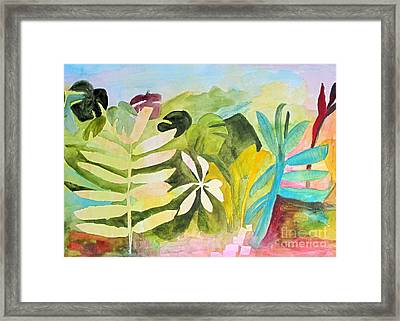 Framed Print featuring the painting Sometimes I Miss The Tropics by Sandy McIntire