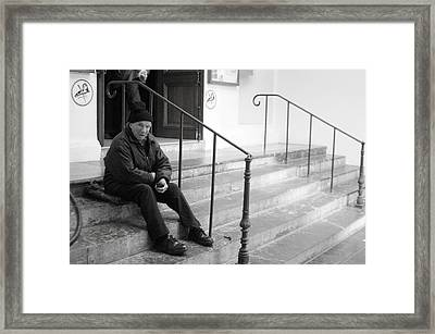 Sometimes I Sit The Other Side Framed Print by Jez C Self