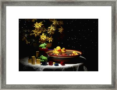 Sometimes Late At Night Framed Print