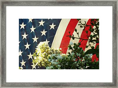 Sometimes Tattered And Battered But Always Proud And Strong Framed Print