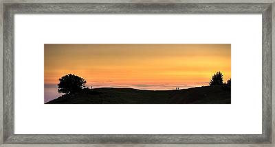 Sometimes The Unexpected Hits You Framed Print by Peter Thoeny