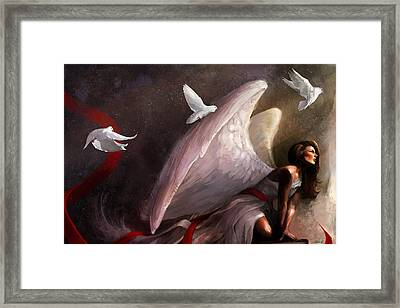 Sometimes They Weep Framed Print by Steve Goad