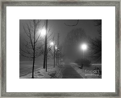 Sometimes Winter Stays A Long Time Framed Print