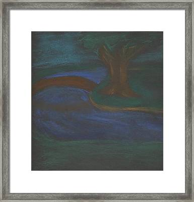 Somewhere At Night Framed Print by Alexandra Mallory