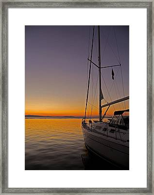 Somewhere Beyond The Sea ... Framed Print by Juergen Weiss