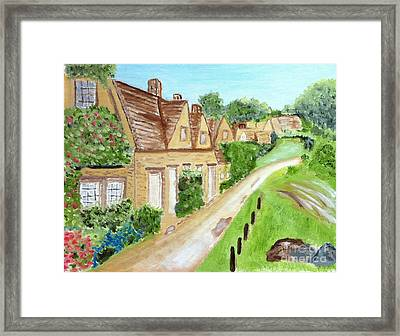 Somewhere In Cotswolds South West England Framed Print