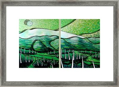 Somewhere In New Zealand Framed Print by Jason Charles Allen