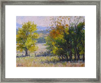 Somewhere In Oklahoma Framed Print by Vickie Fears