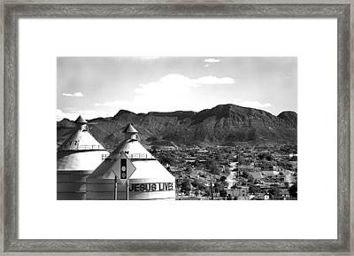 Somewhere In Texas Framed Print by Heather S Huston