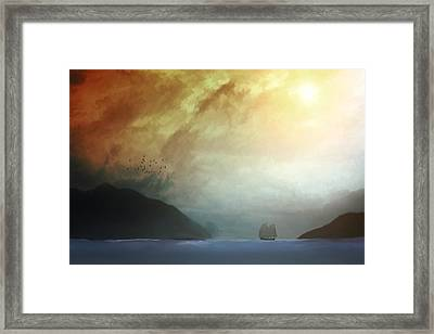 Somewhere In The China Sea Framed Print