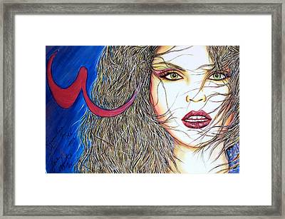 Somewhere In The Mix Framed Print by Joseph Lawrence Vasile