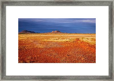 Somewhere In The Outback, Central Australia Framed Print