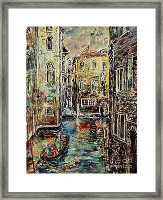 Somewhere In Venice Framed Print