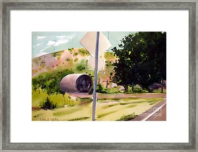 Framed Print featuring the painting Somewhere Near Fort Sill Oklahoma by Charlie Spear