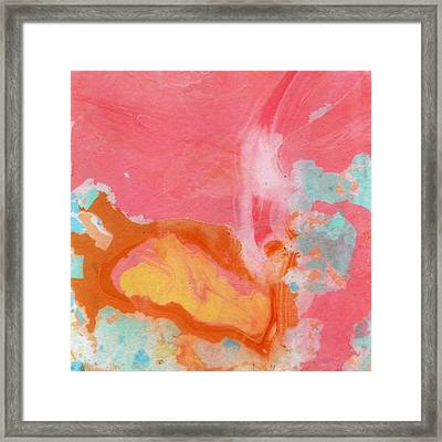 Somewhere New 2- Abstract Art By Linda Woods Framed Print