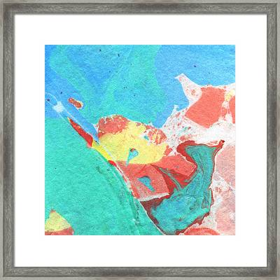 Somewhere New 3- Abstract Art By Linda Woods Framed Print by Linda Woods