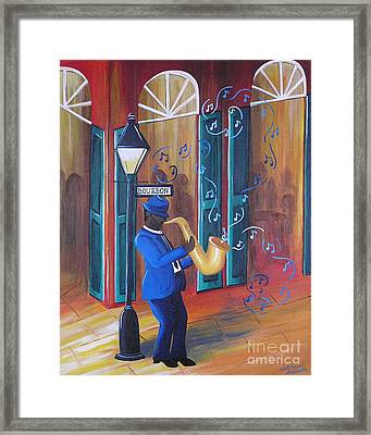 Somewhere On Bourbon Street Framed Print