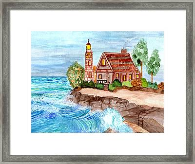 Framed Print featuring the painting Somewhere On The Edge by Connie Valasco