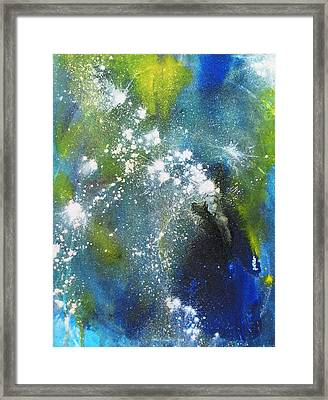 Somewhere Out There Framed Print by Louise Adams