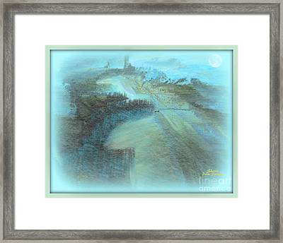 Somewhere Out There Framed Print by Sherri's Of Palm Springs