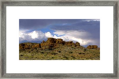 Somewhere Out West Framed Print by Ralph  Perdomo