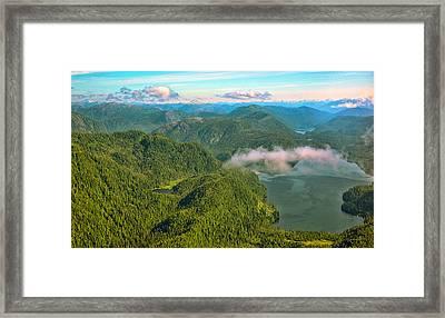 Over Alaska - June  Framed Print