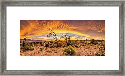 Somewhere Over Framed Print by Peter Tellone