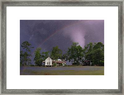 Somewhere Over The Rainbow Framed Print by Jan Amiss Photography