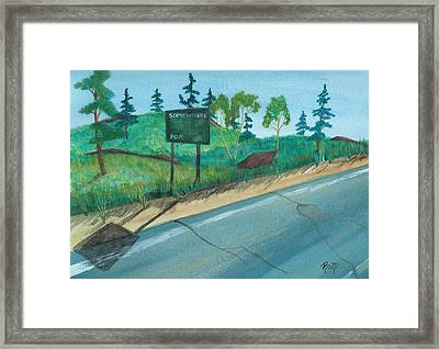 Somewhere...no. Two Framed Print by Robert Meszaros
