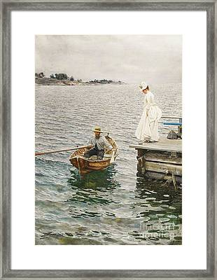 Sommer Vergnugen Framed Print by Pg Reproductions