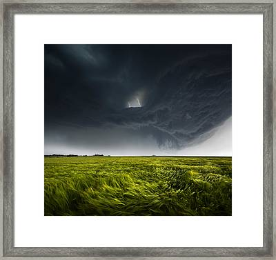 Sommergewitter_02 Framed Print