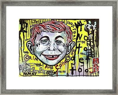 Somtimes I Worry Framed Print by Robert Wolverton Jr
