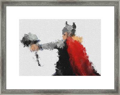 Son Of Asgard Framed Print by Miranda Sether