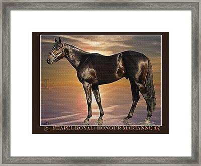Son Of Chapel Royal-honour Marianne'07 Framed Print by John Breen