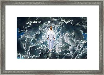 Son Of Man Framed Print by Michael Rucker