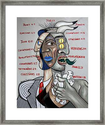 Son Of Perdition,to Steal, Kill And Destroy Framed Print by Anthony Falbo