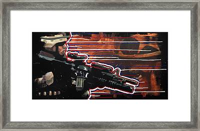 Son Of Sam Framed Print by Michael Figueroa