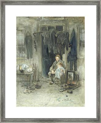Son Of The Old People Framed Print by Jozef Israels