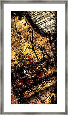 Sonata In Ace Minor Panel 3 Framed Print by Gary Bodnar