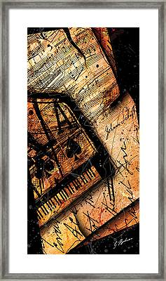 Sonata In Ace Minor Panel I Framed Print by Gary Bodnar