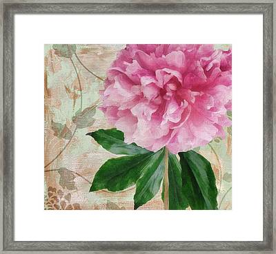 Sonata Pink Peony II Framed Print by Mindy Sommers