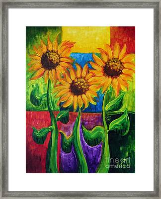 Sonflowers II Framed Print