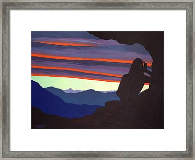 Song At Sunset - Milarepa Framed Print by Losang Gyatso