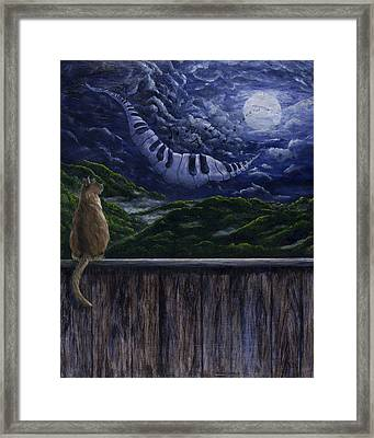 Song In The Night Framed Print