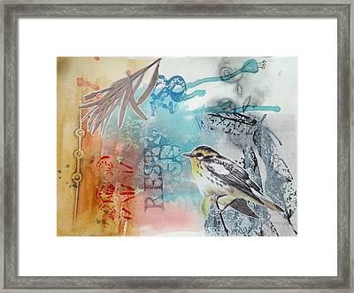 Framed Print featuring the mixed media Song Of Life  by Rose Legge