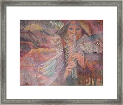 Song Of Our Sacred Dreaming Framed Print by Pamela Mccabe