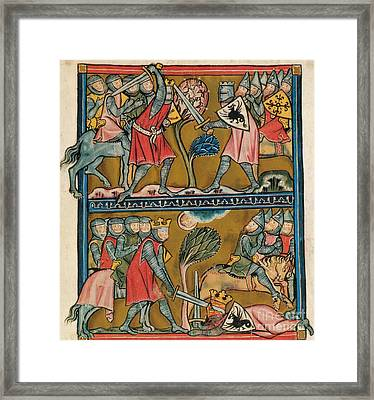 Song Of Roland Charlemagne  Framed Print