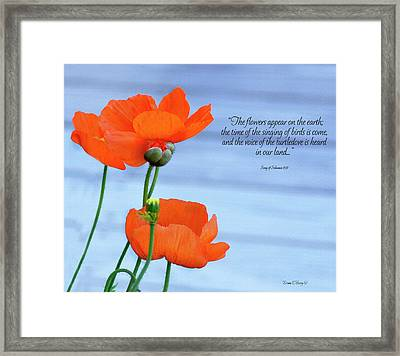 Song Of Solomon 2 Framed Print by Diane E Berry