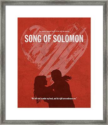 Song Of Solomon Books Of The Bible Series Old Testament Minimal Poster Art Number 22 Framed Print by Design Turnpike