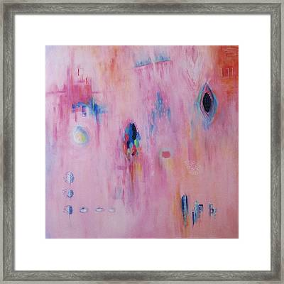 Working Through The Layers Pink Framed Print by Suzzanna Frank